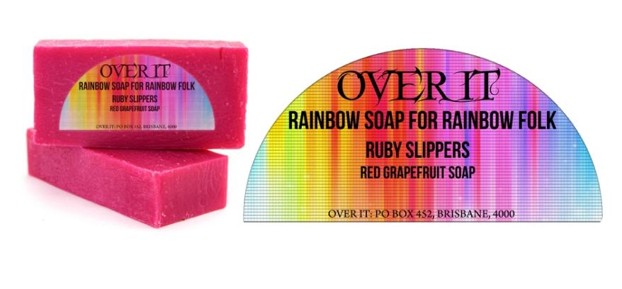 Over It Soap Label Design
