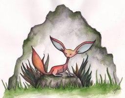 Foxy Watercolour on paper